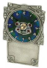 Archibald Knox No' 10 Pewter and Enamel Clock
